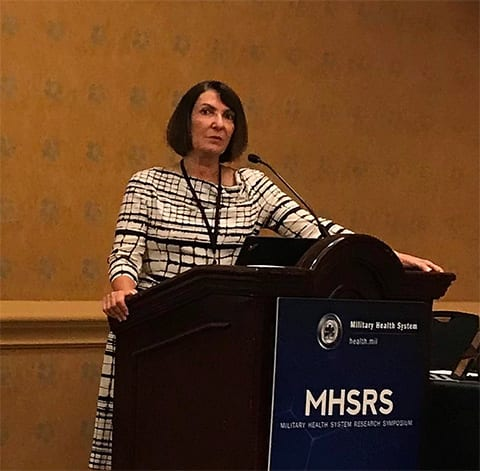 Dr. Beidel at the Military Health System Research Symposium